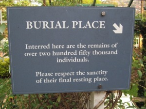 Burial Place Sign