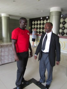 District Executive Secretary, Raymond, & ALARM Rwanda National Coordinator, Benjamin Nkusi